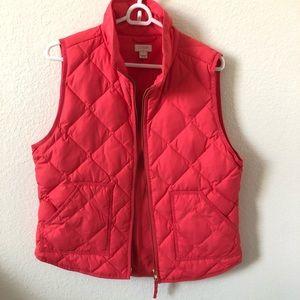 Pink J. Crew Puffer Vest